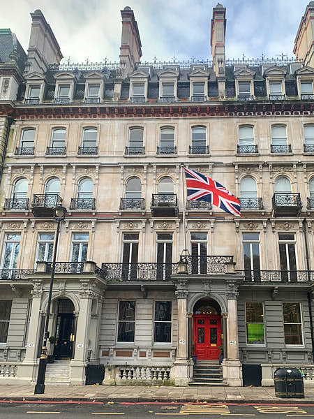 Our old Head Office - 40 Grosvenor Gardens, London