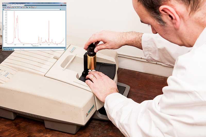 Infrared spectroscopy testing