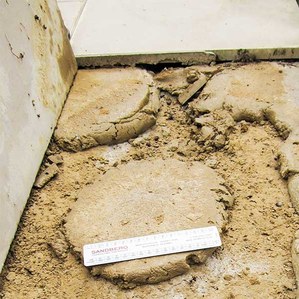 Bedding mortar dabs
