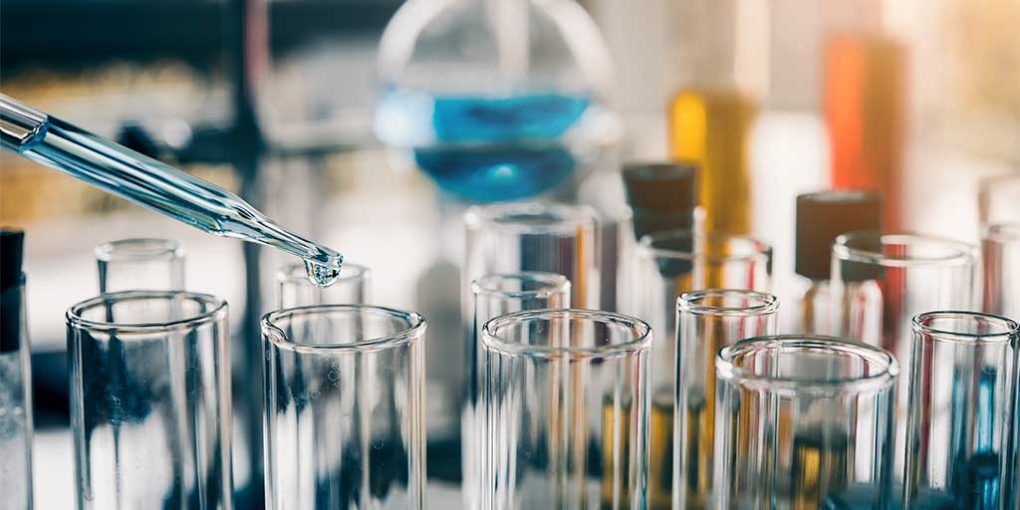 Chemical testing - test-tubes in a laboratory