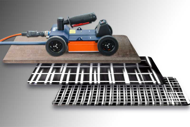 GPR used to image concrete reinforcement