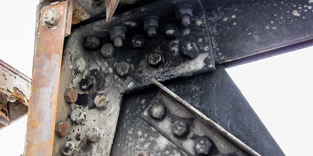 Fire damaged structural steel