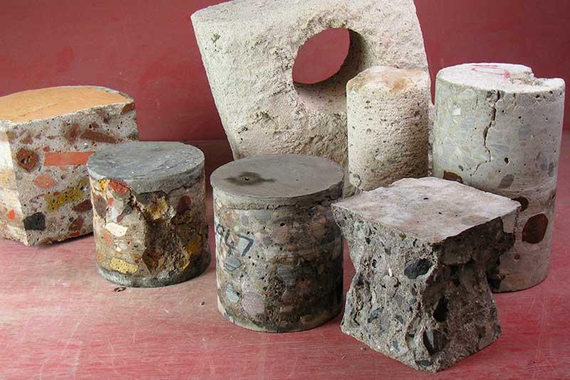 Hardened concrete test specimens