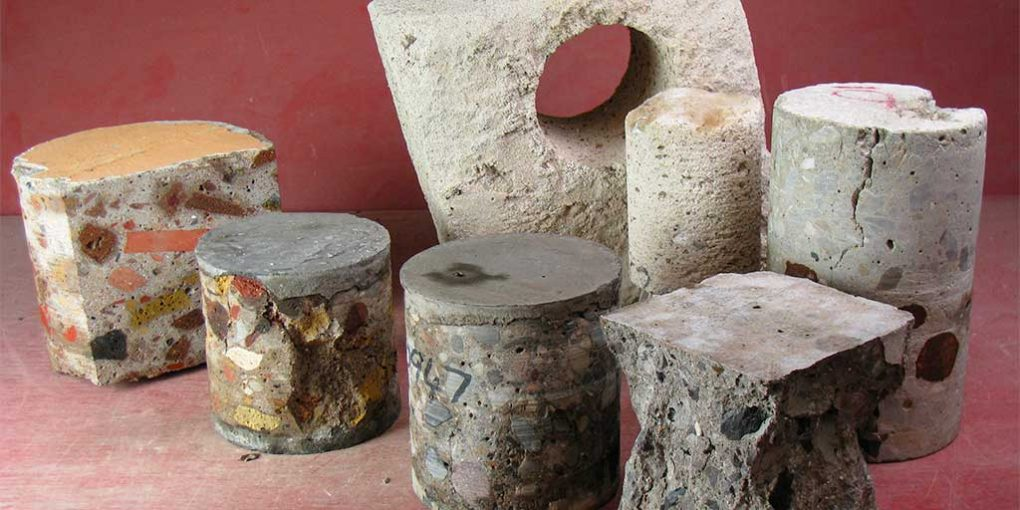 Hardened concrete test specimens