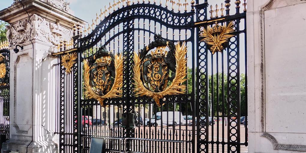 Historic metal gate at Buckingham Palace