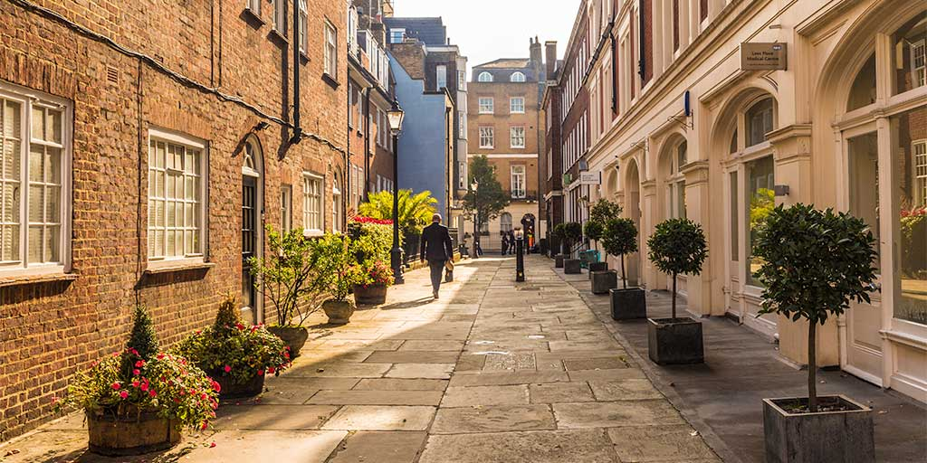 A street in Mayfair, London