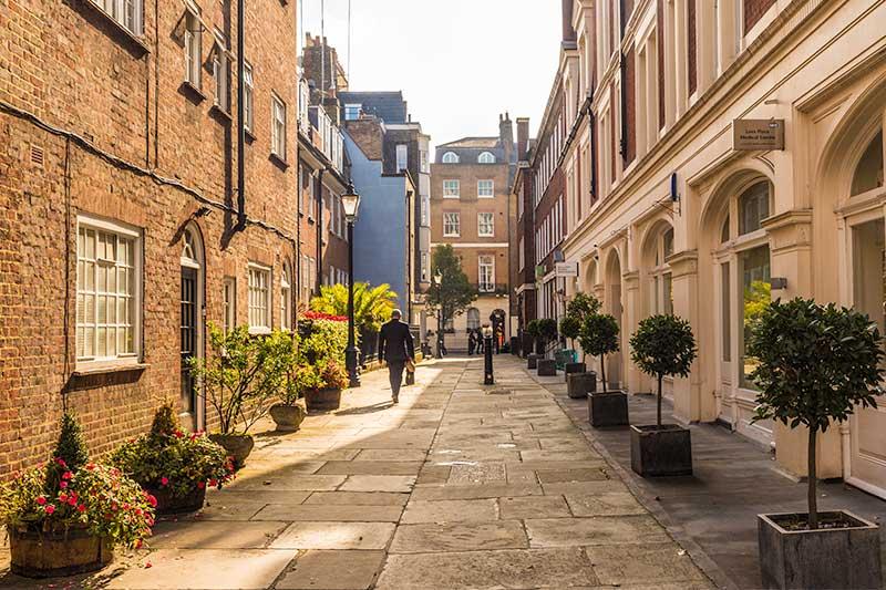 A street in Mayfair, London