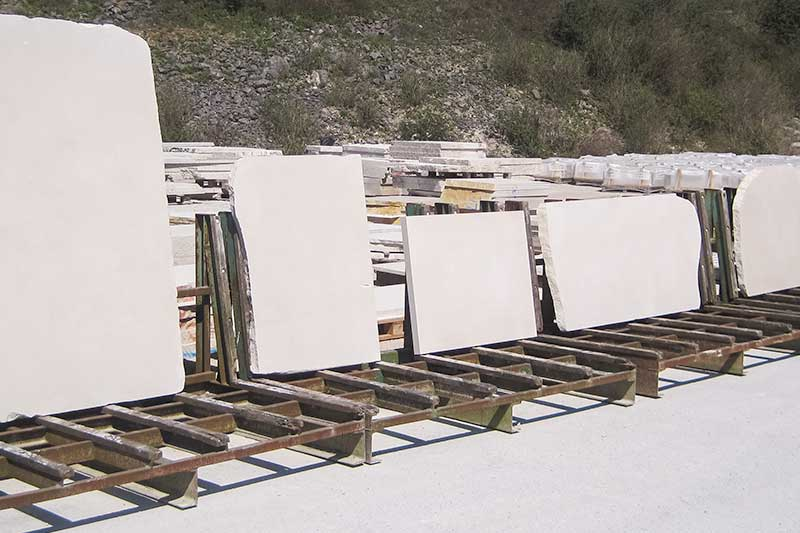 Stored stone for building projects