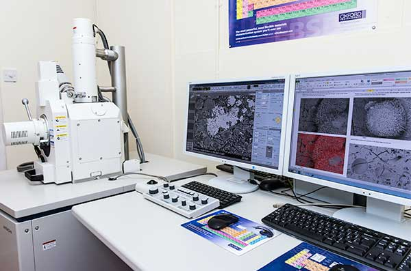 Hitachi Scanning Electron Microscope (SEM) fitted with a state of the art Oxford Instruments INCA energy dispersive X-Ray microanalysis system.