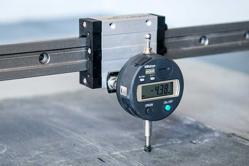 micrometer gauge used for specialist measurement testing