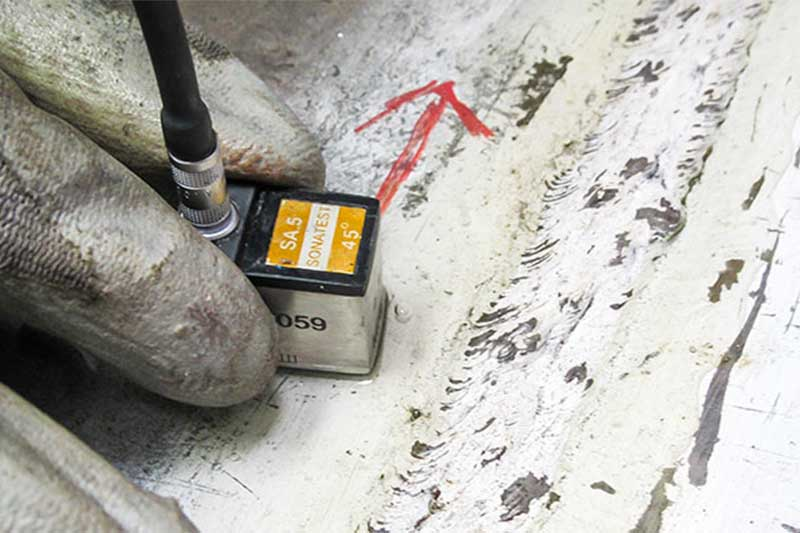 UT weld testing